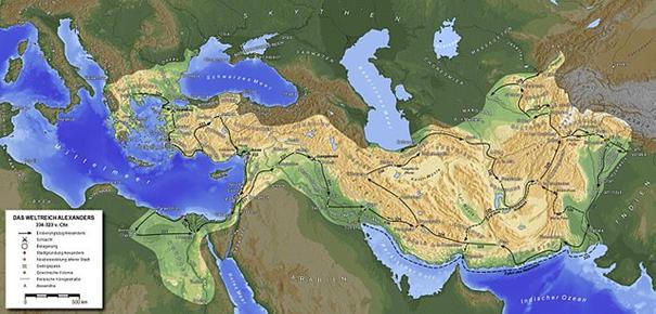 Karte makedonisches Reich
