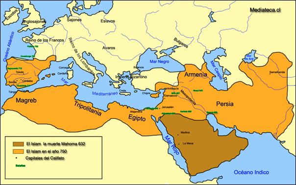 Karte muslimischer Verbreitung